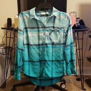 Westbound plaid long sleeve button up